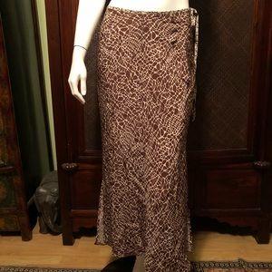 Vintage Anna Hueling giraffe print silk skirt